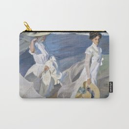 """Paseo a orillas del mar """"Promenade au bord de la mer"""", Joaquín Sorolla, 1909 Carry-All Pouch"""