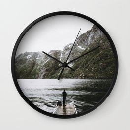 The Mountains IV / Norway Wall Clock