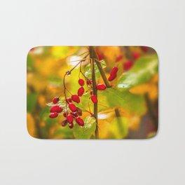 Autumn drops Bath Mat