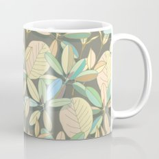 Leaf pattern | brown, pale yellow and green Mug