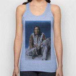A medicine pipe - Blackfoot - American Indian Unisex Tank Top