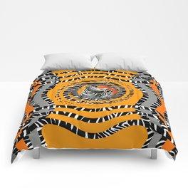 Zebra Tribal Sunset Comforters