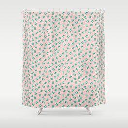 Postmodern Ants in Peach Shower Curtain