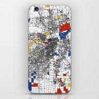 kansas iPhone & iPod Skins featuring Kansas City  by Mondrian Maps
