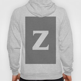z (WHITE & GRAY LETTERS) Hoody