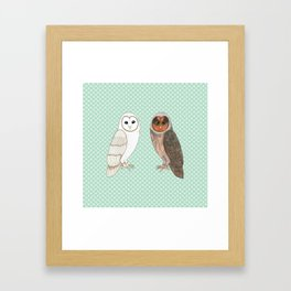Barn Owls Framed Art Print