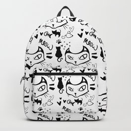 meow meow meow black Backpack