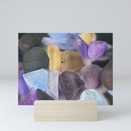 New England beach glass ultraviolet Mini Art Print