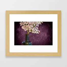 Lilac and Bottle Framed Art Print