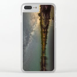 Milkyway at Halibut Point State Park quarry Clear iPhone Case