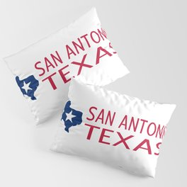 Texas: San Antonio (State Shape & Star) Pillow Sham