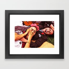 Frida y Chavela Framed Art Print