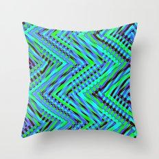 Chevron Blue Throw Pillow