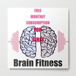 Brain fitness for girls Metal Print