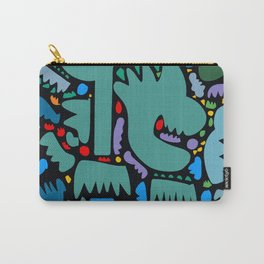 Jungle Pop Night Abstract Pattern Carry-All Pouch
