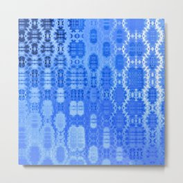Martian Energies Pattern (dreamy blues) Metal Print