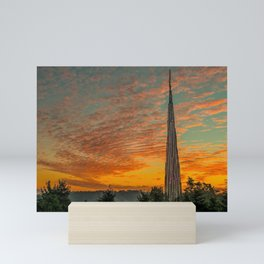 Nature Sculpture & Sunset Mini Art Print