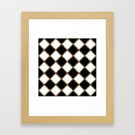 Geometric ornament gold seamless pattern Framed Art Print