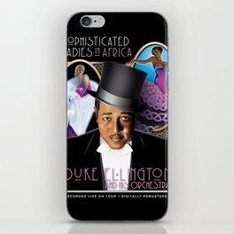 DUKE ELLINGTON POSTER FOR LIVE RECORDING - REMASTERED iPhone Skin