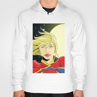 supergirl Hoodies featuring New 52! Supergirl by Jeremy Gonzalez