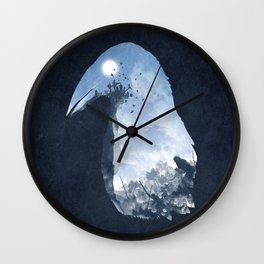 Rise of the Crow Wall Clock