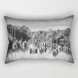 Dead Lakes Florida Black and White Rectangular Pillow