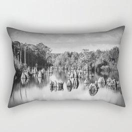 Dead Lakes Florida Black and White Rectangular Pillow