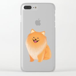 A Pomeranian Makes A House A Home Clear iPhone Case