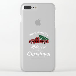 Have yourself a Merry little Christmas Vintage Truck Clear iPhone Case