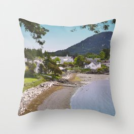 EASTSOUND ON ORCAS ISLAND IN THE PACIFIC NORTHWEST Throw Pillow