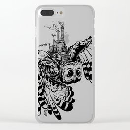 Travel By Owl Clear iPhone Case