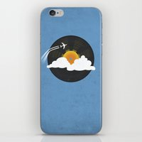 records iPhone & iPod Skins featuring Sunburst Records by Dianne Delahunty