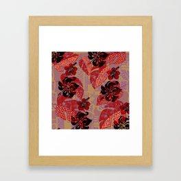 On Fire Kona Tropical Floral Framed Art Print