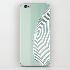 Parasol - Summer Beach Blue Stripes Photography iPhone & iPod Skin