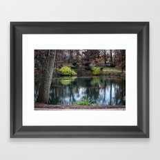 Cemetery Reflections Framed Art Print
