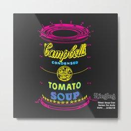 Soup Can Metal Print