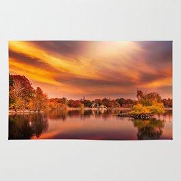 Sunset over Jamaica Pond Rug