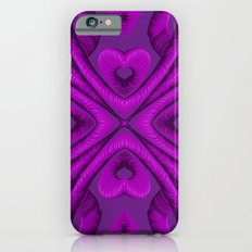 Hot Pink Hearts Slim Case iPhone 6s