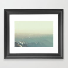 In the end, we conquer ourselves Framed Art Print