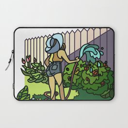 Watering Out Back Laptop Sleeve