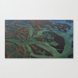 Intracoastal Waterway Marsh Maze Canvas Print