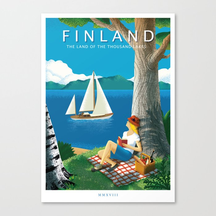 Finland - The land of the thousand lakes Canvas Print
