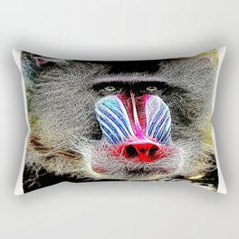 Primate Models: Mandrill Baboons 01-02 Rectangular Pillow