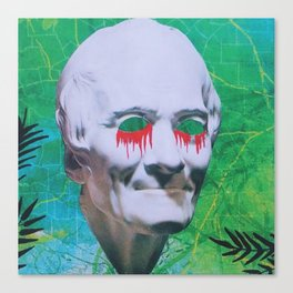 I open my eyes and all I see is darkness / VAPORWAVE Canvas Print