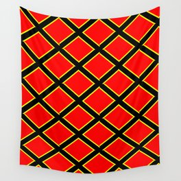 red cross-abstraction,abstract,geometric,geometrical,pattern,cross,order Wall Tapestry