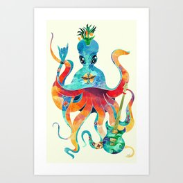 Rocktopus Art Print