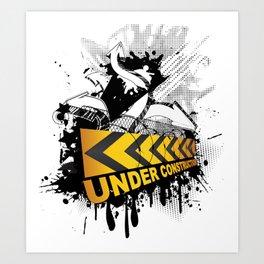 Site under construction / En construction Art Print