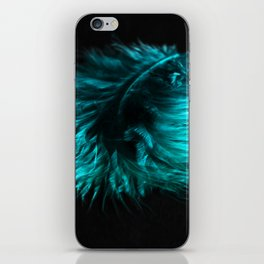 Feather in green-turquoise iPhone Skin