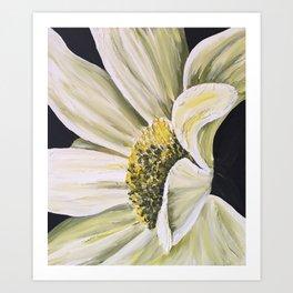 daisy flower acrylic painting Art Print