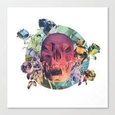 Low Poly Death Canvas Print